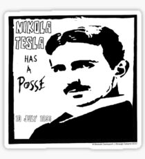 Tesla Has A Posse Sticker