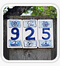 Nautical Numbers Sticker