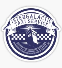 taxi and relative dimensions in space Sticker