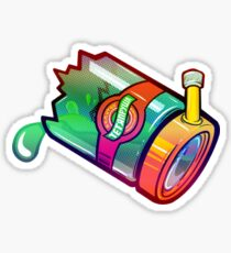 Rainbow Bong Illustration. Sticker