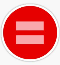 Equal Love Circle Sticker