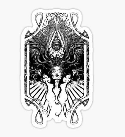 Goddess Nouveau Sticker