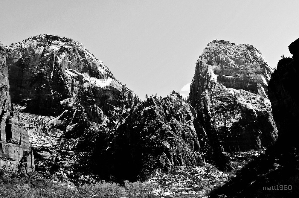 Zion in B&W by matt1960