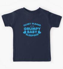 Quiet please GRUMPY BABY SLEEPING Kids Tee