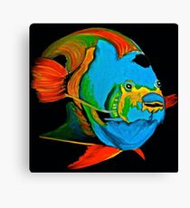 Angel Fish Swimming in the Sea Canvas Print