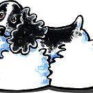 Parti Cocker Spaniel Die Cut Sticker by offleashart
