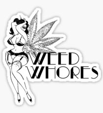 Weed Whores - Pin Up - Black Sticker
