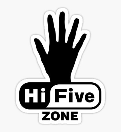 Hi Five Zone handprint T-Shirt & Stickers Sticker