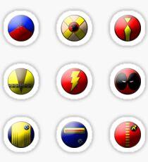Hero Buttons Sticker Set #4 Sticker