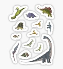 13 Dinosaur Cartoon Stickers Sticker
