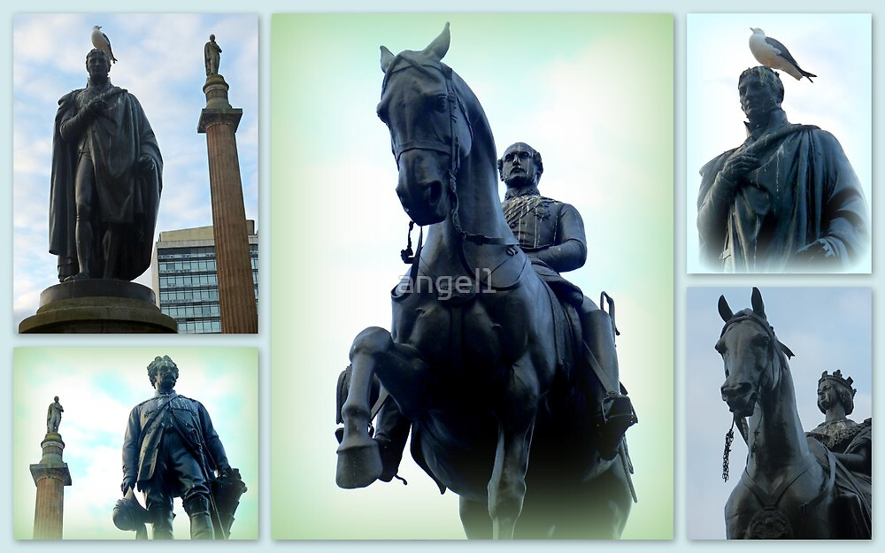 Glasgow George Square ~ Statues  by ©The Creative  Minds