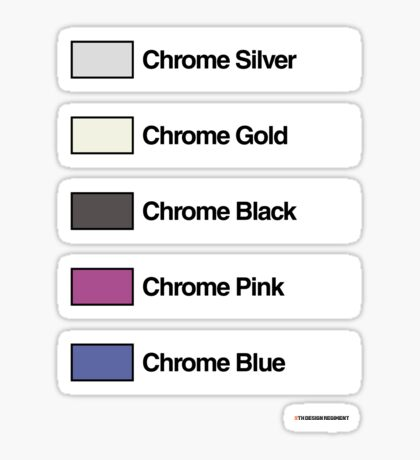 Brick Sorting Labels: Chrome Silver, Chrome Gold, Chrome Black, Chrome Pink, Chrome Blue Sticker