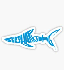 Stop Shark Finning (blue) Sticker