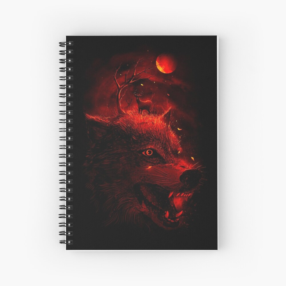 Red Dream Spiral Notebook
