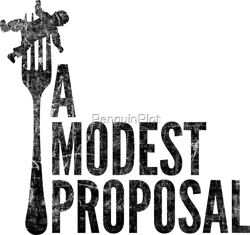 A Modest Proposal Stickers By Penguinplot Redbubble