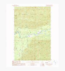 USGS Topo Map Washington State WA Spruce Mountain 243972 1990 24000 Photographic Print