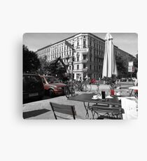 Cafe, Friedrichshain, Berlin, Germany Canvas Print