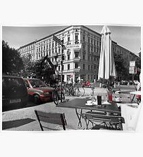 Cafe, Friedrichshain, Berlin, Germany Poster
