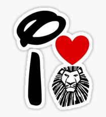 I Heart The Lion King Sticker