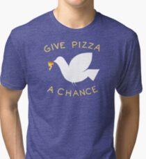 War & Pizza Tri-blend T-Shirt
