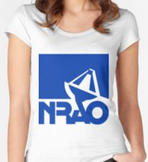 National Radio Astronomy Observatory (NRAO) Logo Women's Fitted Scoop T-Shirt