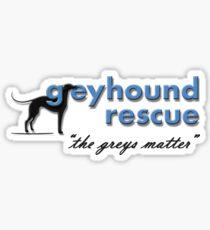 Greyhound Rescue Logo #3 Sticker