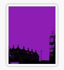 A study in purple, big ben. Sticker