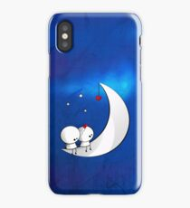 Sitting on the moon iPhone Case/Skin