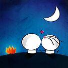 Looking at the moon by Media Jamshidi