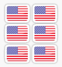 Flags of the World - United States of America x6 Sticker