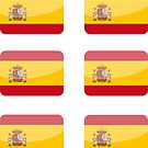Flags of the World - Spain x6 by CongressTart