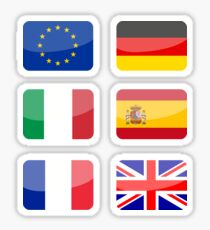 Flags of the World - Europe Pack #1 x6 Sticker
