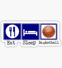 Eat, Sleep, Basketball Sticker