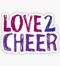 Love 2 Cheer Sticker