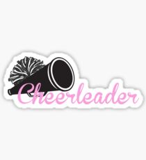 Cheerleader with Megaphone Sticker