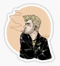 Punk!Kirk Clear Sticker