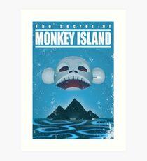 Monkey Island Travel Poster Art Print