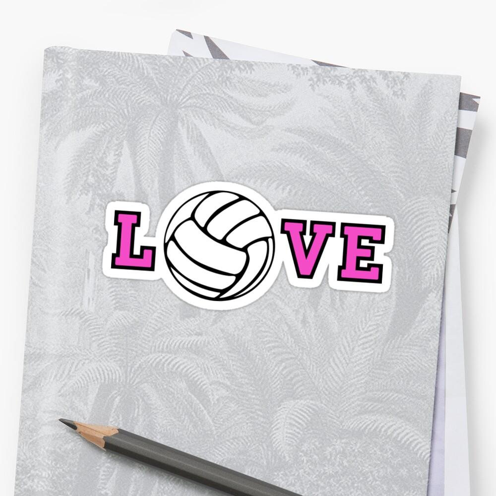 Volleyball Love Sticker