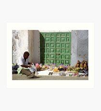 Street Vendor, Gran Canaria Art Print