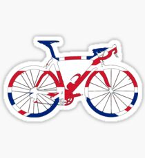 Bike Flag United Kingdom (Big) Sticker
