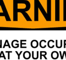 WARNING: TEENAGE OCCUPANT, ENTER AT YOUR OWN RISK Sticker