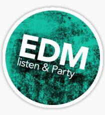 EDM listen & party Sticker