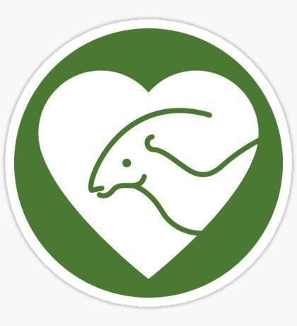 Dinosaur heart: Parasaurolophus sticker Sticker