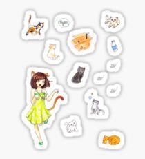 Neko Gyaru Sticker