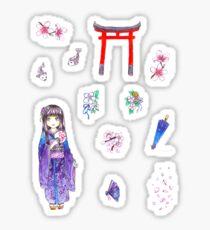 Kimono Gyaru Sticker