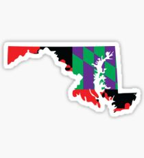 Maryland Flag [Purple] | State Line | SteezeFactory.com Sticker