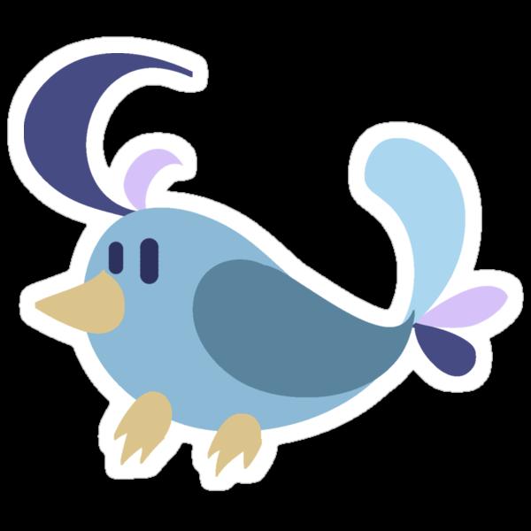 Cowlick Blue Bird by SaradaBoru