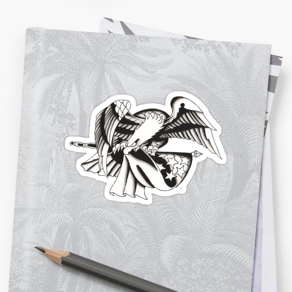 Eagle & Flag by BonyHomi