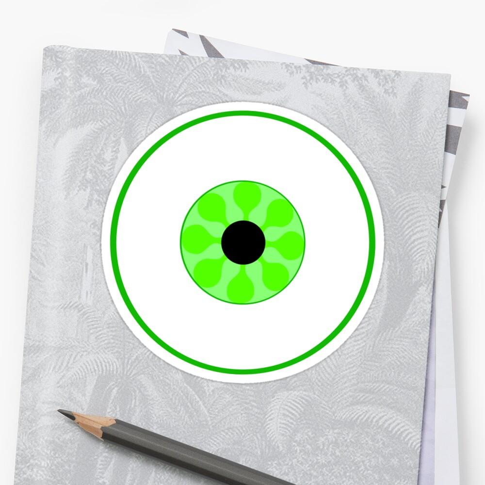 Psychedelic Green Eye by somethingkinda