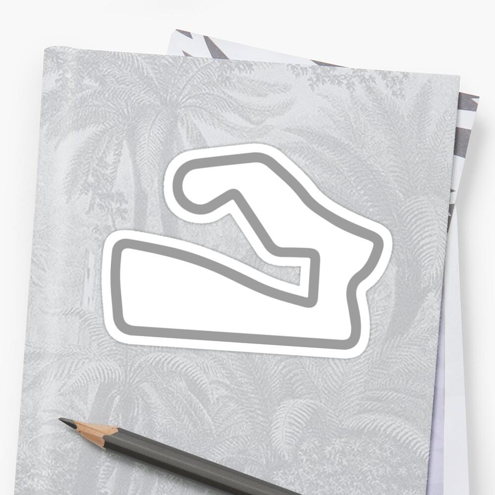 Road America track map sticker by ApexFibers